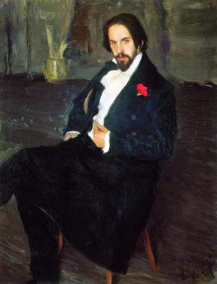Борис Михайлович Кустодиев. Портрет Ивана Билибина