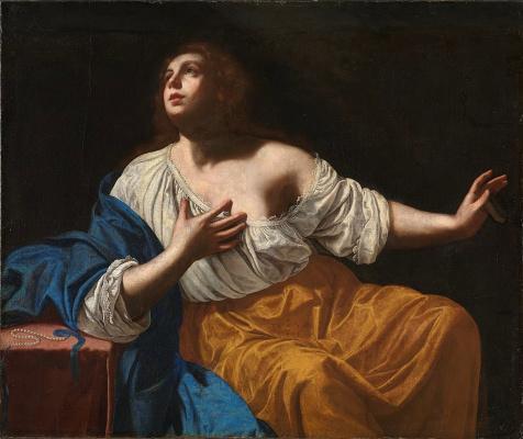 Artemisia Gentileschi. Mary Magdalene