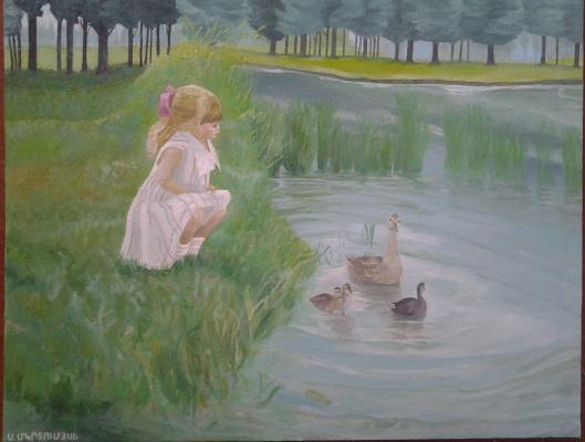 Mihran Mkrtumyan. Девочка и озеро
