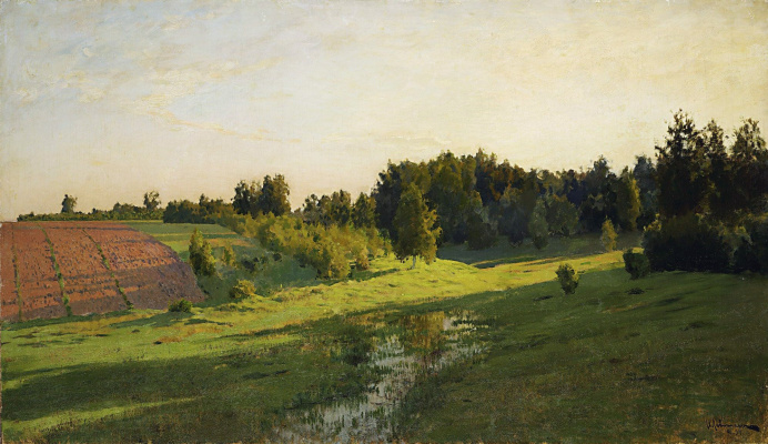 Isaac Levitan. The shadows of the evening