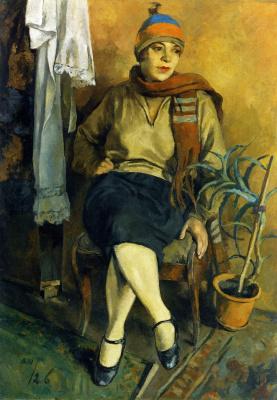 Александр Васильевич Шевченко. Портрет Л.С. Псищевой . 1926
