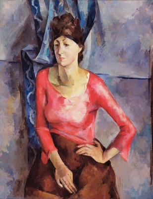 Александр Александрович Осмеркин. Портрет Е. Т.  Барковой. 1921