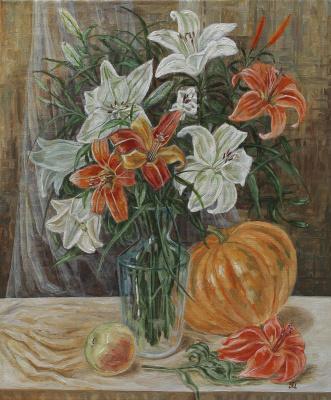 Margarita Vadimovna Pichugina. Still life with lilies