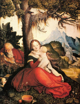 Hans Baldung. Holy family under the open sky