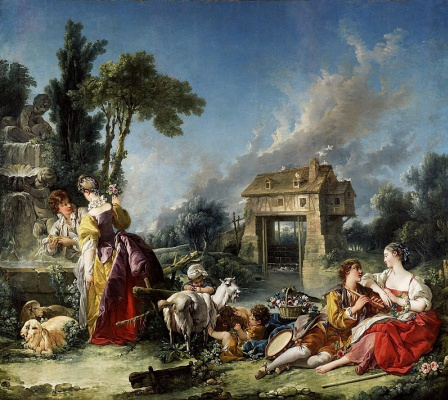 Francois Boucher. Fountain of love