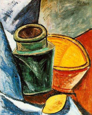 Пабло Пикассо. Кувшин, пиала и лимон
