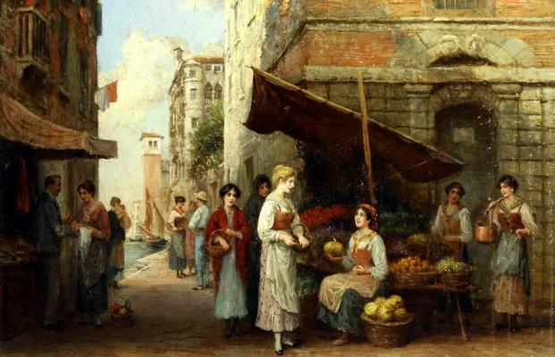 Артур Тревор Хаддон. Рынок в Венеции