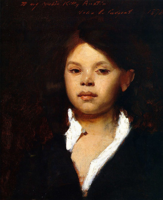 John Singer Sargent. Head of an Italian girl