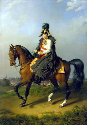 Петер Иоганн Крафт. Портрет Франца I верхом на коне