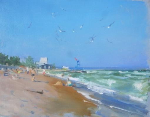 Евгений Кротов. Берег моря - начало сентября