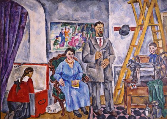 Petr Petrovich Konchalovsky. Family portrait in the Studio