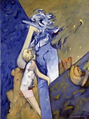 Dorothea Tunning. Blue mom