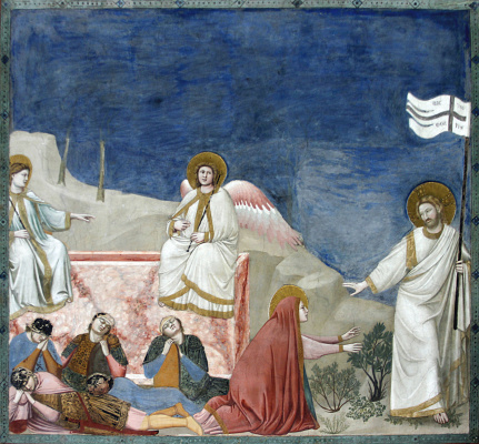 Giotto di Bondone. Resurrection (Do not touch Me). Scenes from the Life of Christ