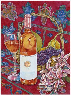 Андреа Тачиера. Натюрморт с вином