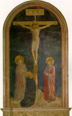 Fra Beato Angelico. Crucifixion with Saint Dominic