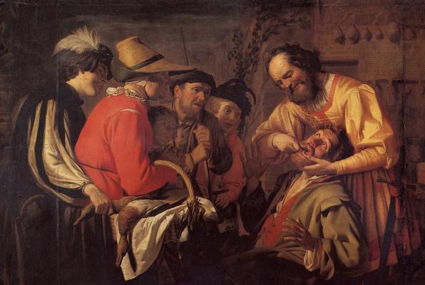 Gerard van Honthorst. Pulling tooth