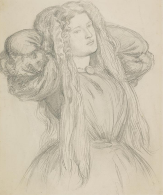 Dante Gabriel Rossetti. Portrait Of Fanny Carnforth