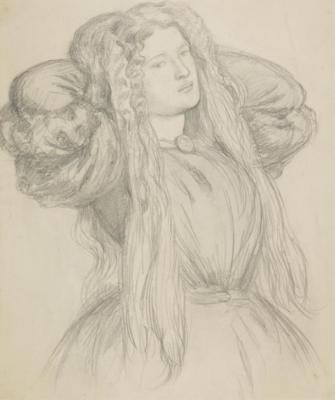 Dante Gabriel Rossetti. Portrait Of Fanny Carnforth