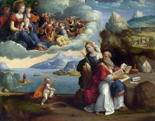Гарофало. Видение святого Августина
