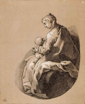 Abraham Bloomart. Mother and child