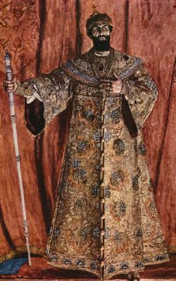 Alexander Yakovlevich Golovin. Portrait of the actor Fyodor Chaliapin as Boris Godunov