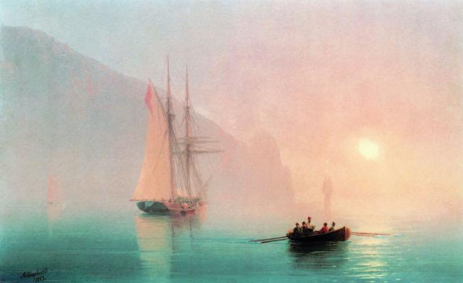 Ivan Aivazovsky. Ayu-Dag on a foggy day