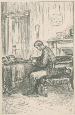 Джон Эверетт Милле. Люциус Мейсон в своем кабинете. Иллюстрация к произведениям Энтони Троллопа