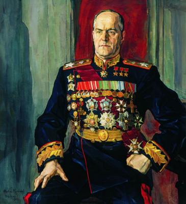 Pavel Dmitrievich Korin Russia 1892 - 1967. Portrait of Marshal Georgy Konstantinovich Zhukov. State Tretyakov Gallery, Moscow