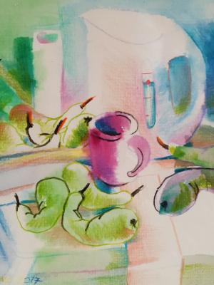 Victoria Viktorovna Kosenko. Still life with pears
