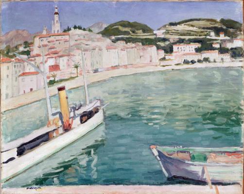 Albert Marquet. The harbour in Menton