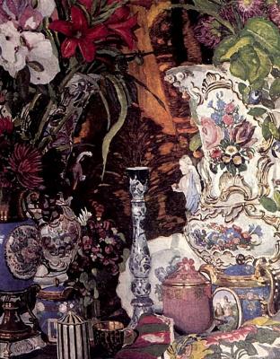 Alexander Yakovlevich Golovin. Flowers and porcelain