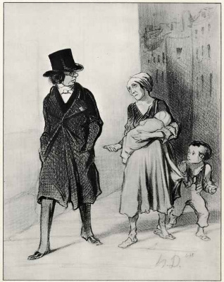 Honore Daumier. I'm sorry, but I am a member of the Society in the fight against poverty