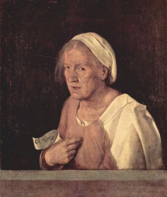 Джорджоне. Портрет пожилой женщины
