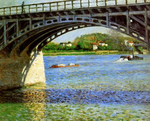 Gustave Caillebotte. The bridge over the Seine in Argenteuil