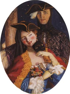 Константин Андреевич Сомов. Две маски (Пара накануне карнавала)