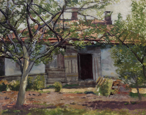 Vasily Dmitrievich Ermilov. House in the garden