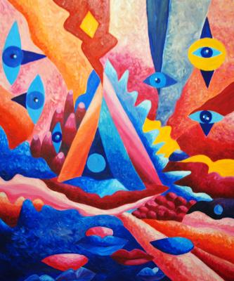 """Irina Shumskaya. The painting """"Cognition"""" Irina SHUMSKAYA"""