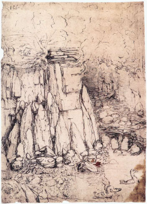 Leonardo da Vinci. The cave with the ducks