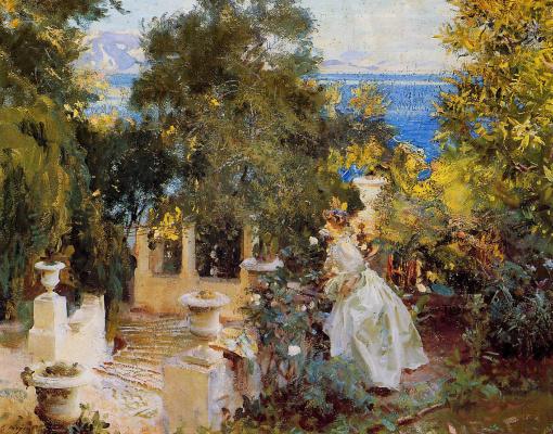 John Singer Sargent. A garden in Corfu