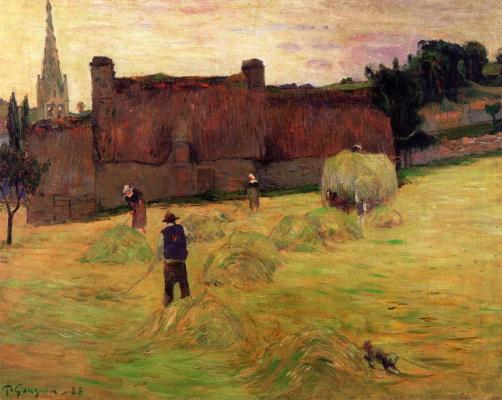 Поль Гоген. Сенокос  в Бретани