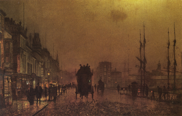 John Atkinson Grimshaw. The Docks Of Glasgow