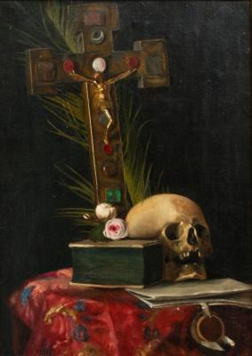 Ванитас. Натюрморт с черепом