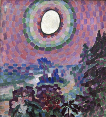 Robert Delaunay. Landscape with a disk