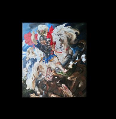 Peter Paul Rubens - Saint George and the Dragon, ( 1605