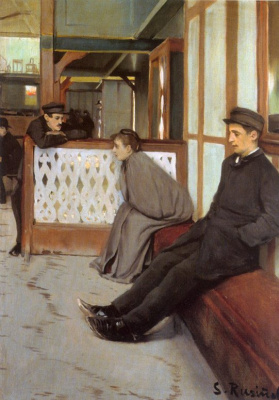 Santiago Rusignol. Waiting for customers (Moulin de la Galette)