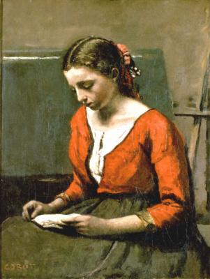 Камиль Коро. Читающая девушка
