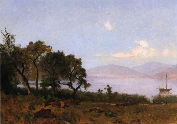 Thomas Hill. The trees near the shore