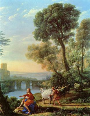 Клод Лоррен. Пейзаж с Аполлоном и Меркурием