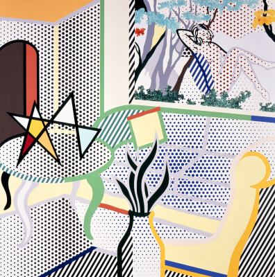 Roy Liechtenstein. The interior is painted bathers
