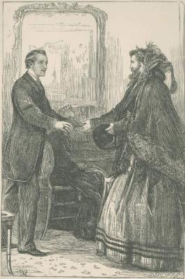 """Джон Эверетт Милле. """"Вашу руку, мистер Крэдел"""". Иллюстрация к произведениям Энтони Троллопа"""